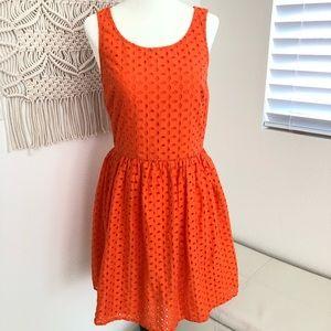 Old Navy Orange Eyelet Dress